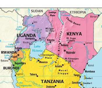 East Africa Road Map.Map Of Eastern Africa Jackenjuul