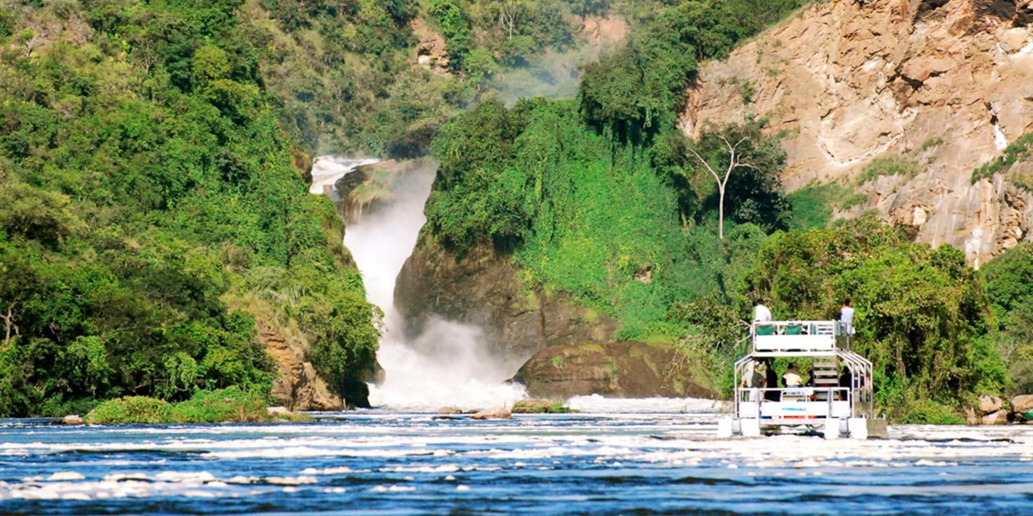 Top tourist activities in Uganda, boat cruise, Waterfalls in Uganda